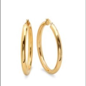 18k Gold Plated Thick Hoop Earrings